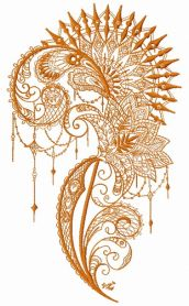 Lace decoration machine embroidery design