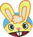 Happy Rabbit Smile embroidery design