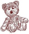 Old bear toy embroidery design