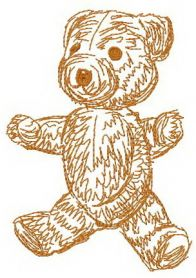Old bear toy 8 machine embroidery design