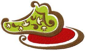 Cooked mushrooms free embroidery design