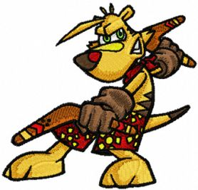 ty the tasmanian tiger embroidery
