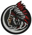 Native American indian chief mascot  embroidery design