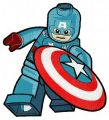 Lego Captain America embroidery design