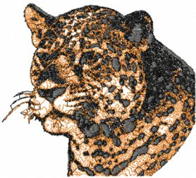Free jaguar free photo stitch embroidery design 2