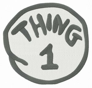 Thing 1 round badge
