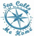Sea calls me home embroidery design