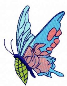 Blue butterfly free embroidery design