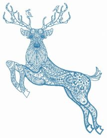 Mosaic deer 4 machine embroidery design