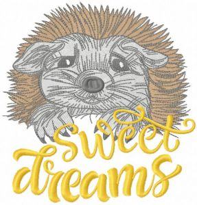 Hedgehog sweet dreams