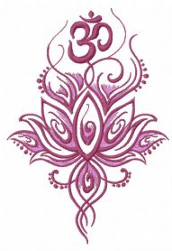 Oriental flower 2 machine embroidery design