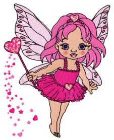 Baby love fairy machine embroidery design