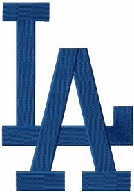 Los Angeles Dodgers Cap Logo machine embroidery design