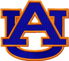 Auburn University Athletic logo machine embroidery design