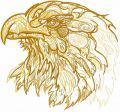 Eagle sketch embroidery design