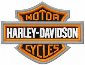 Harley Davidson Classic logo embroidery design