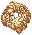 Cute lion 2 embroidery design