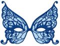Butterfly mask embroidery design