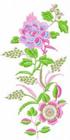 Spring Rose machine embroidery design