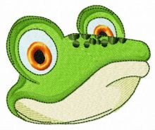 Green frog muzzle