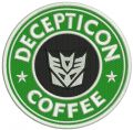Decepticon coffee embroidery design