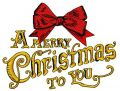 A Merry Christmas to you 4 embroidery design