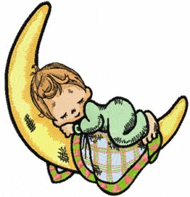 Precious Moments Sleeping Boy machine embroidery design