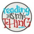 Reading is my thing embroidery design