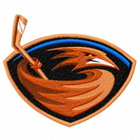 Atlanta Thrashers machine embroidery design
