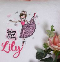 Embroidered ballerina design
