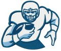 American football player 7 embroidery design