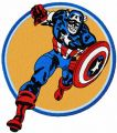 Captain America attack embroidery design
