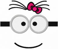 Minion girl mask