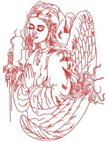 My angel machine embroidery design