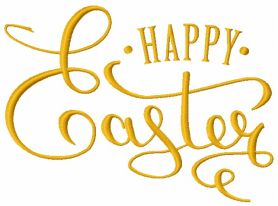 Happy Easter 6 machine embroidery design