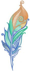 Firebird feather machine embroidery design