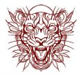 Tribal tiger 4 embroidery design