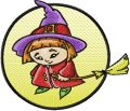 Little Witch embroidery design