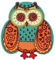 Fat owl embroidery design
