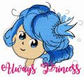 Always princess embroidery design