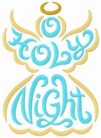 Holly Night machine embroidery design