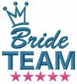 Bride team embroidery design