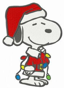 Snoopy with garland