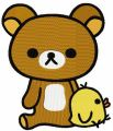 Rilakkuma with chicken embroidery design