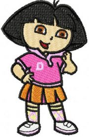Dora the Explorer Scout machine embroidery design