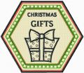 Christmas Gifts badge embroidery design