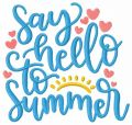 Say hello to summer free machine embroidery design