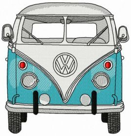 Volkswagen Van machine embroidery design