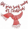 Get your scarf ready, it's Christmas free embroidery design