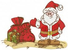 Santa Claus with Christmas gifts 2